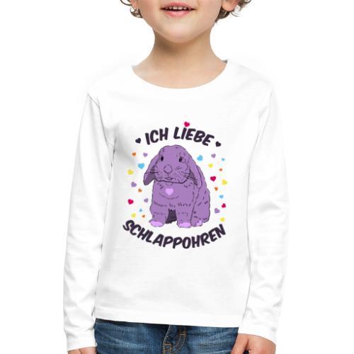 Ich liebe Schlappohren - Kinder Premium Langarmshirt