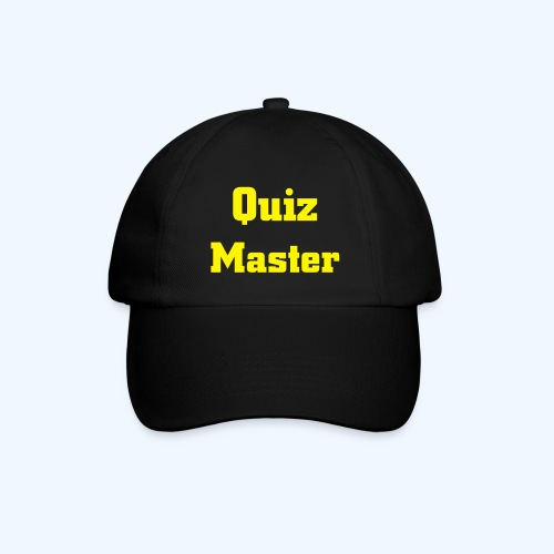 Quiz Master Black Cap Yellow Text - Baseball Cap