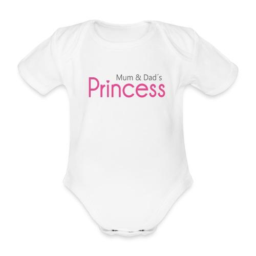 Mum & Dad´s Princess(White) - Baby Bio-Kurzarm-Body