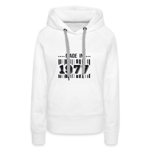 Made in 1977 - Sweat-shirt à capuche Premium pour femmes