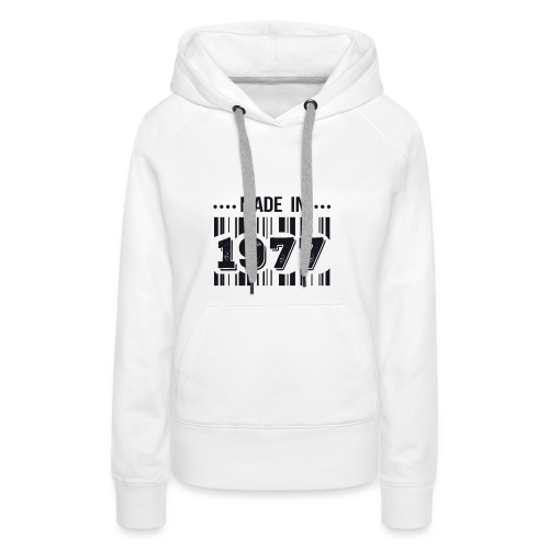 Made in 1977 - Sweat-shirt à capuche Premium pour femmes