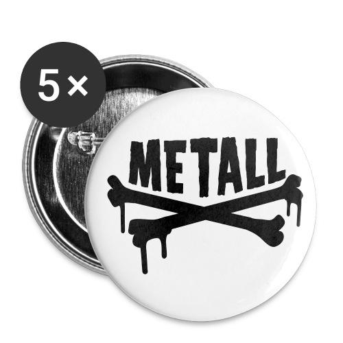 Chapas metall - Paquete de 5 chapas medianas (32 mm)