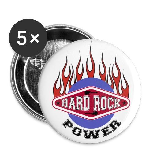 Chapas hard rock - Paquete de 5 chapas medianas (32 mm)