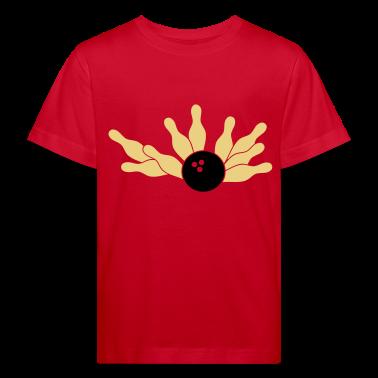 Red bowling strike-ball (2c) Kids' Shirts