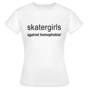 skatergirls against - Frauen T-Shirt