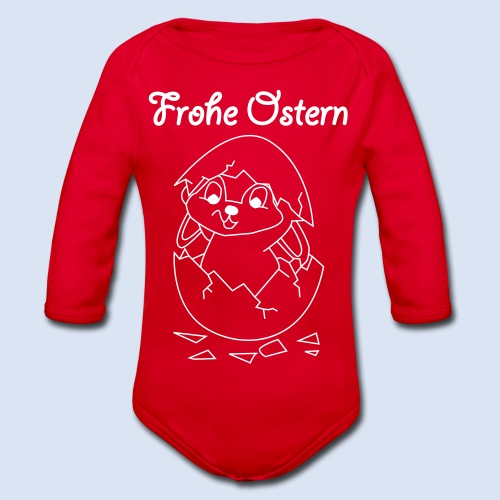 FROHE OSTERN - Happy Easter Baby & Kleinkinder - Baby Bio-Langarm-Body