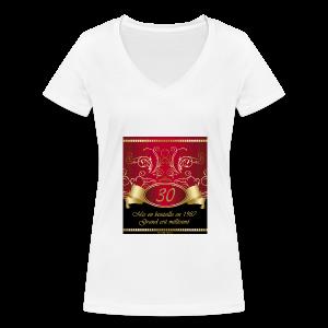 Grand cru 30 ans - T-shirt bio col V Stanley & Stella Femme