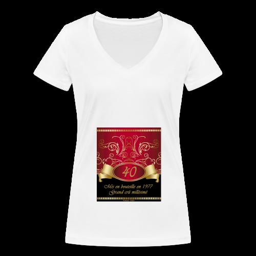 Grand cru 40 ans - T-shirt bio col V Stanley & Stella Femme