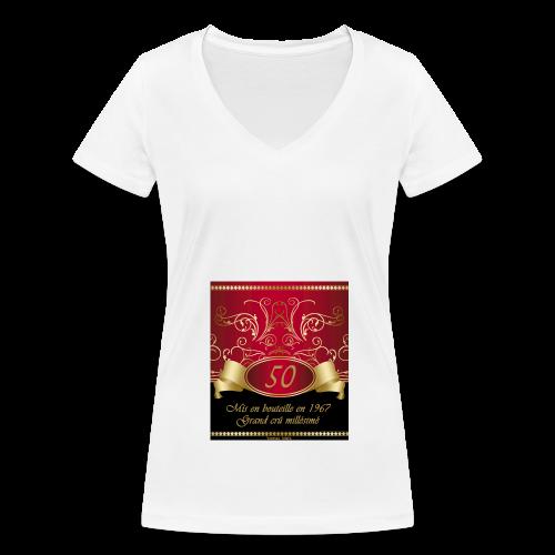Grand cru 50 ans - T-shirt bio col V Stanley & Stella Femme