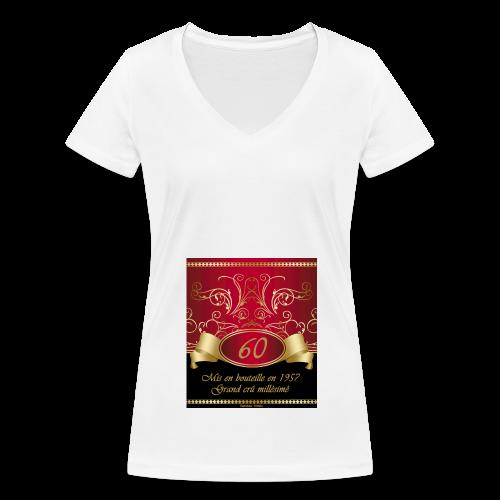 Grand cru 60 ans - T-shirt bio col V Stanley & Stella Femme