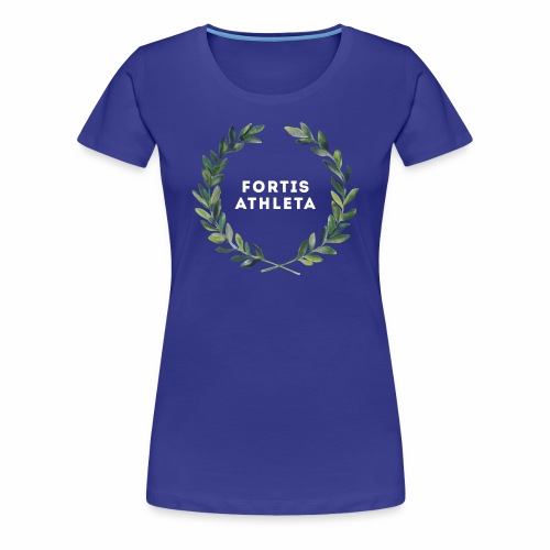 Damen Premiumshirt blau mit logo Fortis Athleta - Frauen Premium T-Shirt
