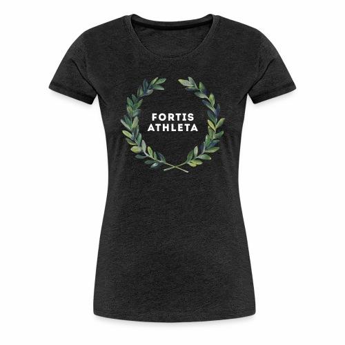 Damen Premiumshirt grau mit logo Fortis Athleta - Frauen Premium T-Shirt