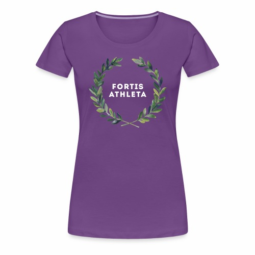 Damen Premiumshirt lila mit logo Fortis Athleta - Frauen Premium T-Shirt