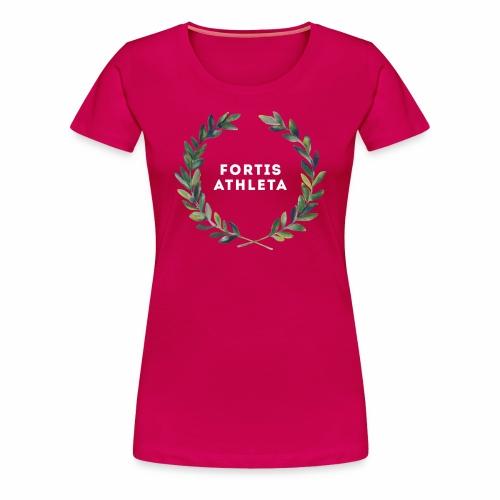 Damen Premiumshirt pink mit logo Fortis Athleta - Frauen Premium T-Shirt