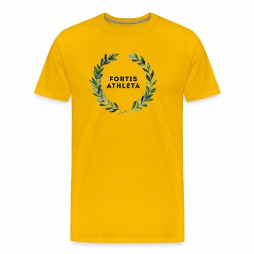 Männer Premiumshirt gelb mit logo Fortis Athleta - Männer Premium T-Shirt