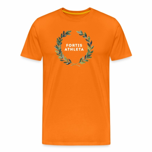 Männer Premiumshirt orange mit logo Fortis Athleta - Männer Premium T-Shirt