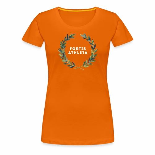 Damen Premiumshirt orange mit logo Fortis Athleta - Frauen Premium T-Shirt