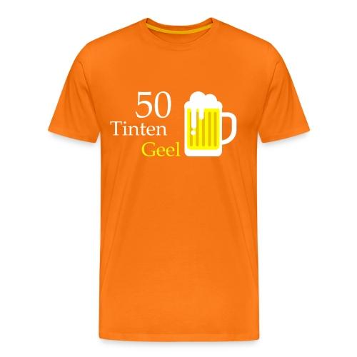 Grappig T-shirt 50 Tinten Geel - Mannen Premium T-shirt