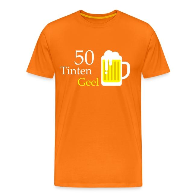 Grappig T-shirt 50 Tinten Geel
