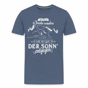 In Frieden wandern - Berge, Sonne - Männer Premium T-Shirt