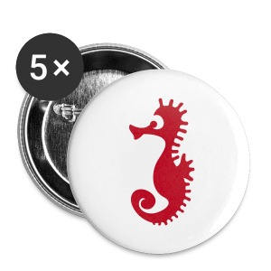 BADGE MOTIF HYPOCAMPE - Badge moyen 32 mm