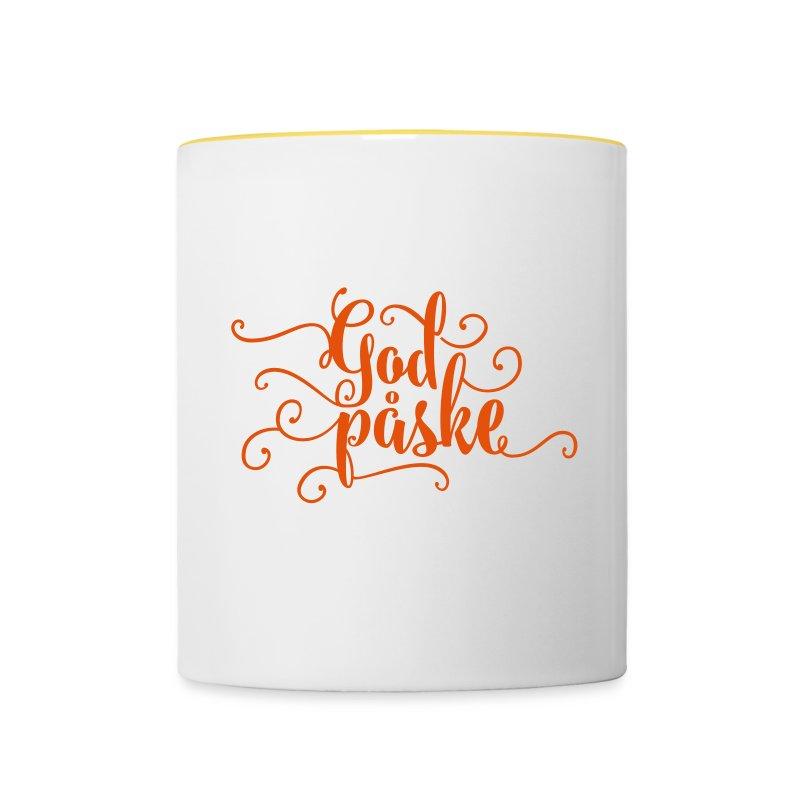 «God påske» påskehilsen - Tofarget kopp
