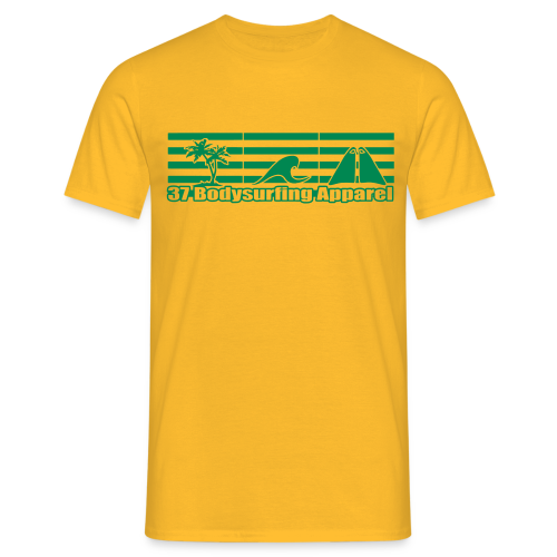 Bodysurfing Roots Shirt Yellow - Men's T-Shirt