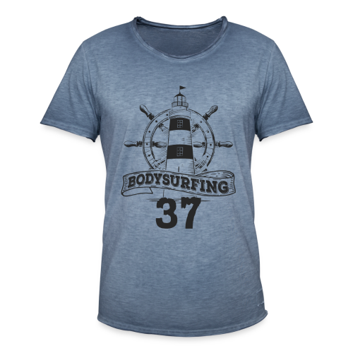 Bodysurfing Lighthouse Special Male - Men's Vintage T-Shirt