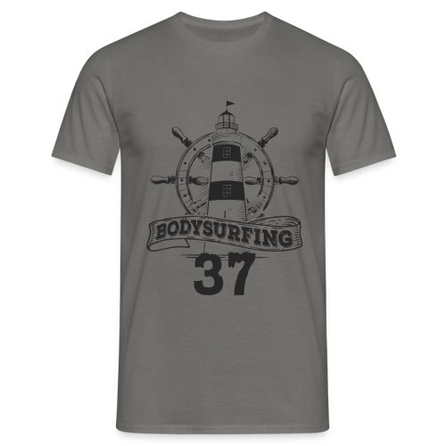 Bodysurfing Lighthouse Grey Male - Men's T-Shirt