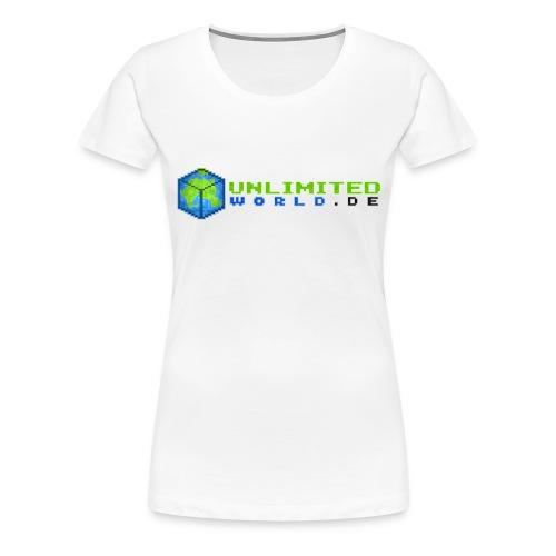 T-Shirt Frauen - .DE in schwarz - Frauen Premium T-Shirt