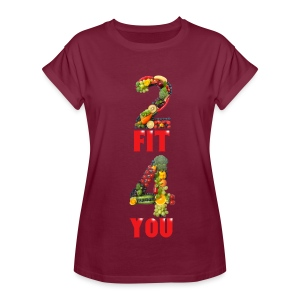 Vegan 2 FIT 4 YOU Fitness Power - Frauen Oversize T-Shirt
