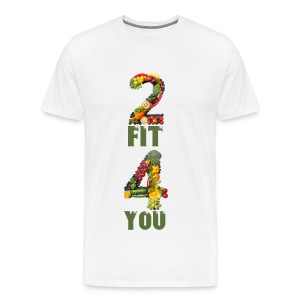 Vegan 2 FIT 4 YOU Fitness Power - Männer Premium T-Shirt