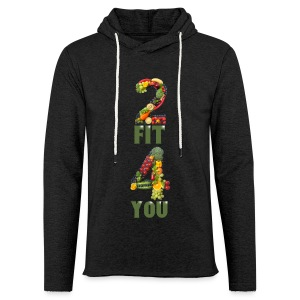 Vegan 2 FIT 4 YOU Fitness Power - Leichtes Kapuzensweatshirt Unisex