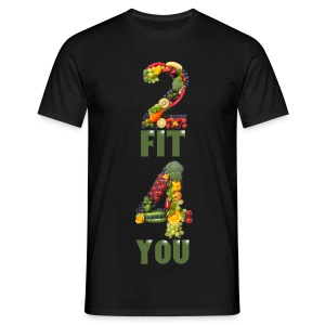 Vegan 2 FIT 4 YOU Fitness Power - Männer T-Shirt