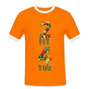 Vegan 2 FIT 4 YOU Fitness Power - Männer Kontrast-T-Shirt