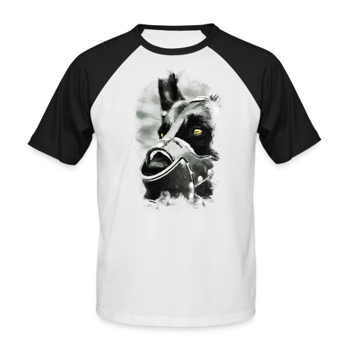 T-Shirt | Hundekopf - Männer Baseball-T-Shirt