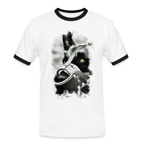 T-Shirt   Hundekopf - Männer Kontrast-T-Shirt