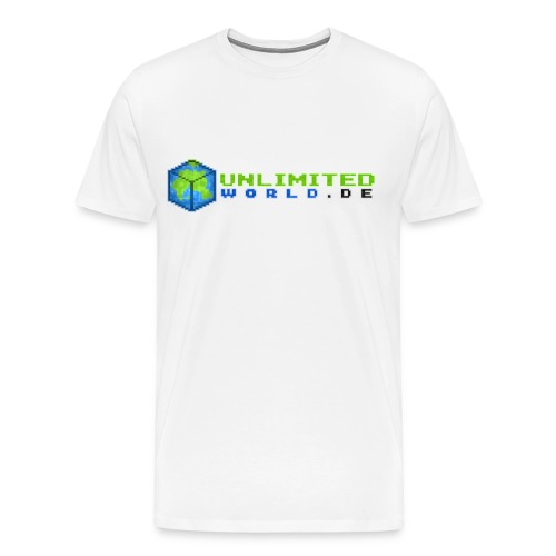 T-Shirt Männer mit Name - .DE in schwarz - Männer Premium T-Shirt