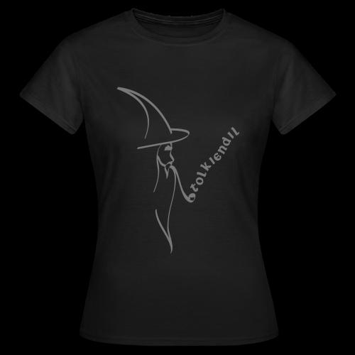 Magicien Tolkiendil Gris T-shirt Basique Femme - T-shirt Femme