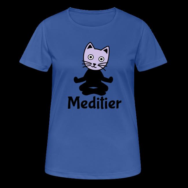 Meditieren Yoga Katze T-Shirts