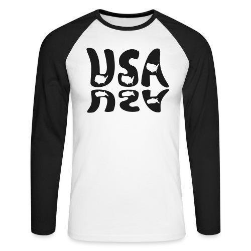 USA BASEBALL SHIRT - Men's Long Sleeve Baseball T-Shirt