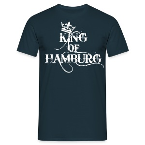 King of Hamburg Krone Kiez König Kings T-Shirt - Männer T-Shirt