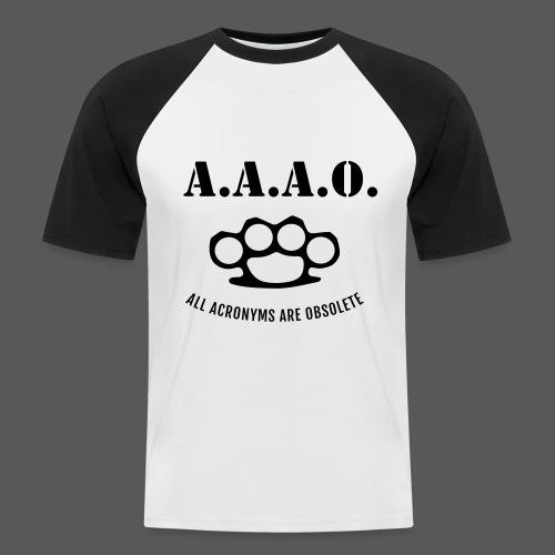 A.A.A.O. - Männer Baseball-T-Shirt