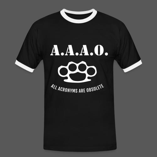 A.A.A.O. - Männer Kontrast-T-Shirt