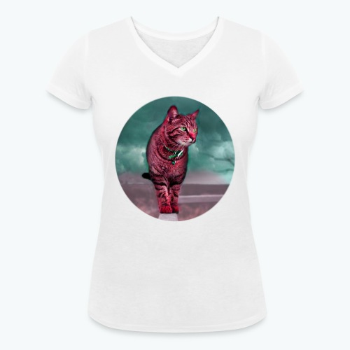 Chat Sauvage - Femme - T-shirt bio col V Stanley & Stella Femme