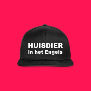Pet 'HUISDIER in het Engels' - Snapback cap