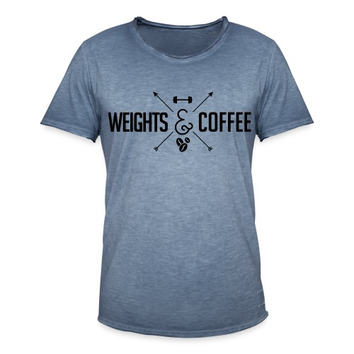 Weights & Coffee Shirt Vintage - Männer Vintage T-Shirt