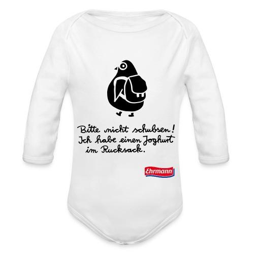 Nicht schubsen- Baby Body Langarm - Baby Bio-Langarm-Body