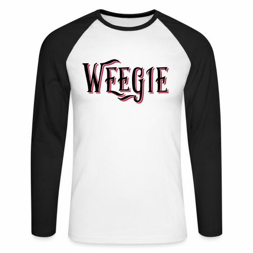 Weegie Men's Baseball T-Shirt - Men's Long Sleeve Baseball T-Shirt