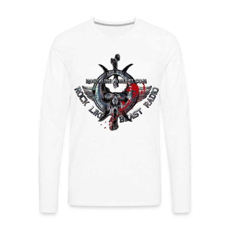BloodSkull3.png - Långärmad premium-T-shirt herr